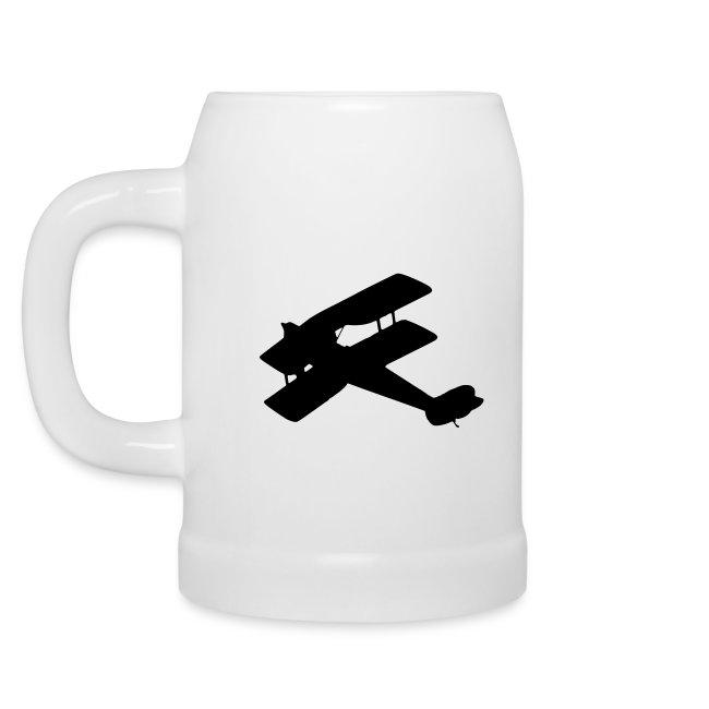 Biplane Beer mug