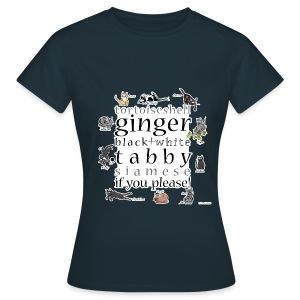 Kittie Allsorts (navy) - Women's T-Shirt