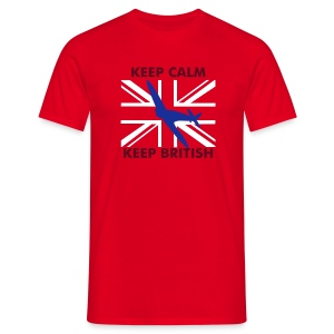 Keep Calm Keep British Spitfire Union Flag - Men's T-Shirt