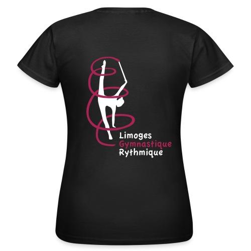 Tee-Shirt classique femme noir - T-shirt Femme