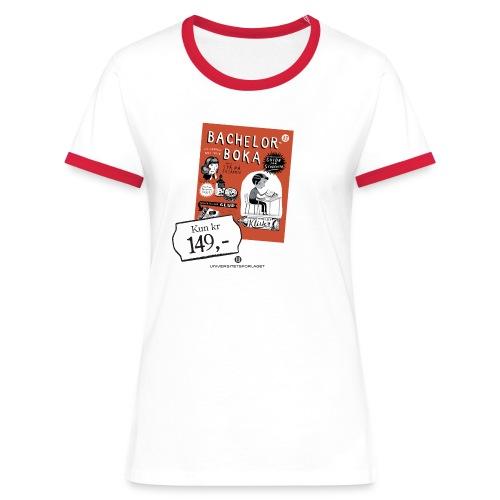 Bachelorboka - lindrer eksamensangst - Kontrast-T-skjorte for kvinner