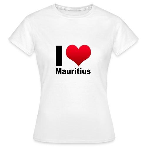 I love Mauritius blanc Femme - T-shirt Femme