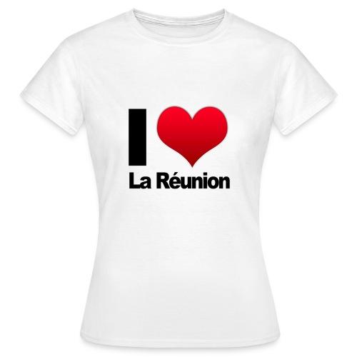 I love La Reunion blanc Femme - T-shirt Femme