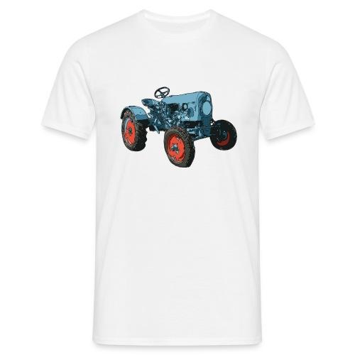 Vieux tracteur bleu - T-shirt Homme