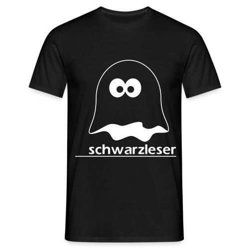 Motiv: Schwarzleser (klassisch) | Druck: weiß | verschiedene Farben - Männer T-Shirt