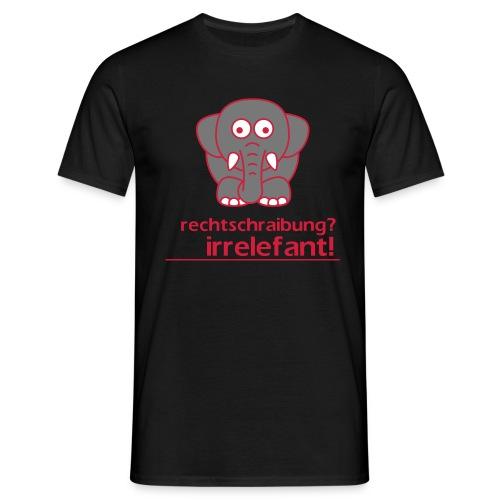 Motiv: Irrelefant (klassisch) | Druck: rot/grau/weiß | verschiedene Farben - Männer T-Shirt