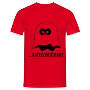 Motiv: Schwarzleser (klassisch)   Druck: schwarz   verschiedene Farben - Männer T-Shirt