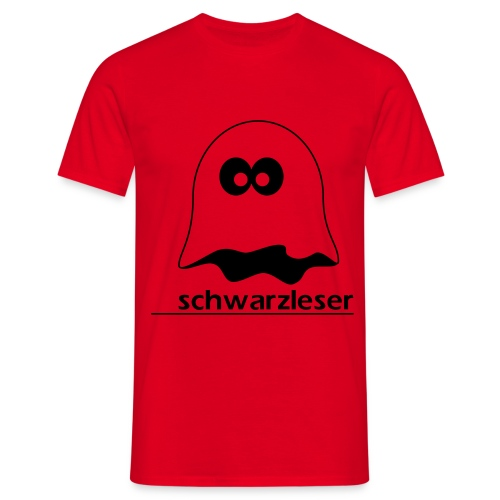 Motiv: Schwarzleser (klassisch) | Druck: schwarz | verschiedene Farben - Männer T-Shirt
