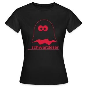 Motiv: Schwarzleser (klassisch)   Druck: rot   verschiedene Farben - Frauen T-Shirt