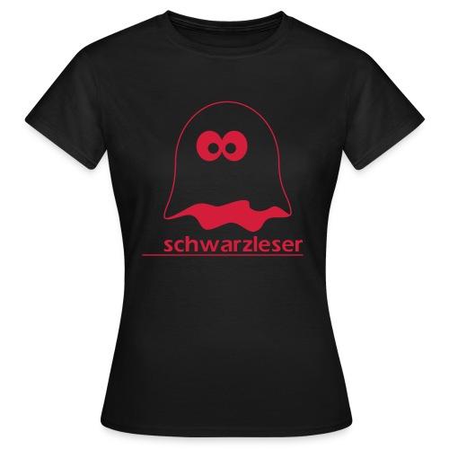 Motiv: Schwarzleser (klassisch) | Druck: rot | verschiedene Farben - Frauen T-Shirt