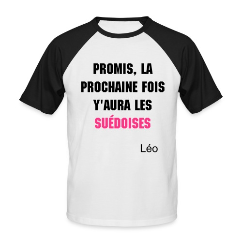 Léo Style - T-shirt baseball manches courtes Homme