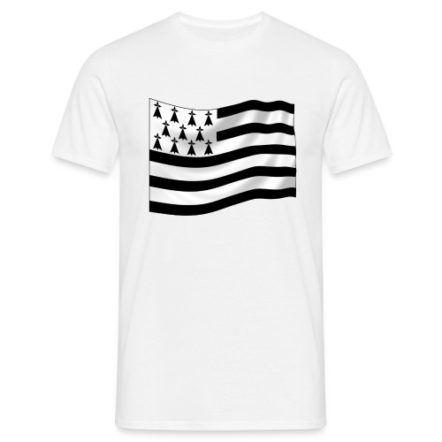 T-Shirt drapeau Bretagne Homme - T-shirt Homme