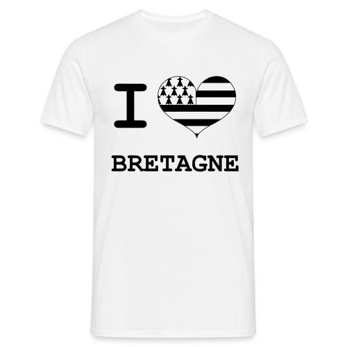 T-Shirt I love Bretagne Homme - T-shirt Homme