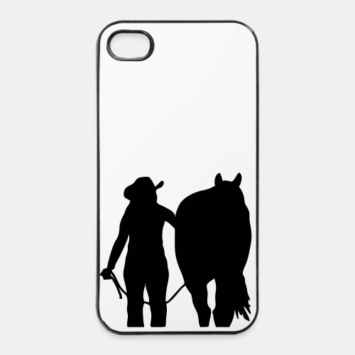 Cowgirl and Horse Iphone 4 Case - iPhone 4/4s Hard Case