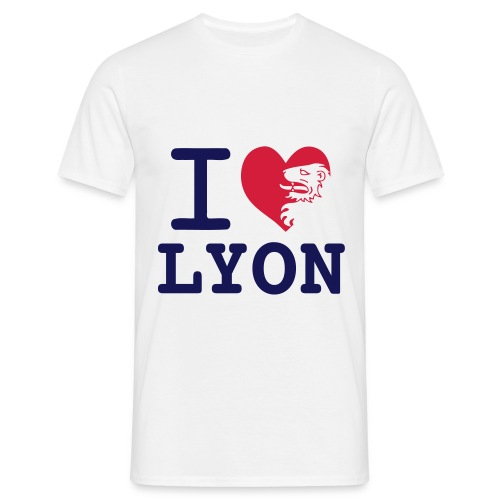 tee shirt I love lyon - T-shirt Homme