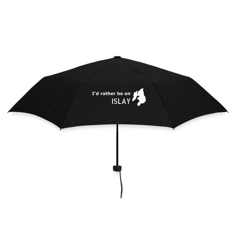 I'd rather be on Islay Umbrella (White on Navy) - Umbrella (small)