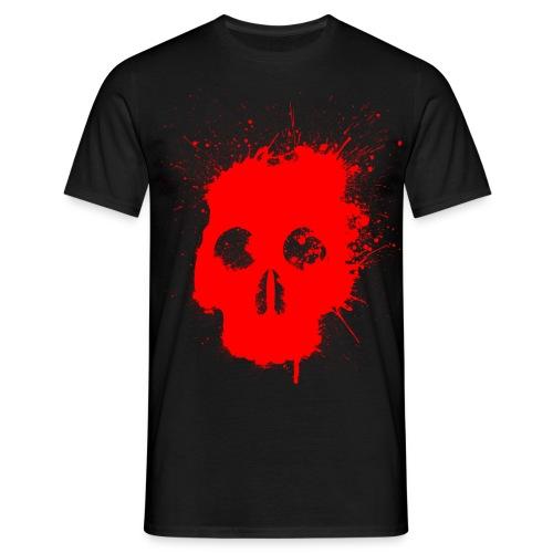 Splatter Skull T Shirt - Men's T-Shirt