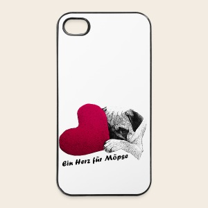 Mops Herz iPhone 4/4S Case - iPhone 4/4s Hard Case