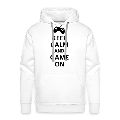 Keep cal and Game on - Mannen Premium hoodie