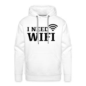 I Need WIFI - Mannen Premium hoodie