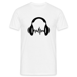 T-Shirt Headphone - Männer T-Shirt