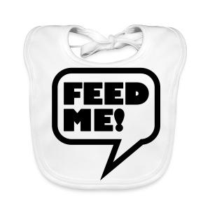 Feed me! slabbetje. - Bio-slabbetje voor baby's