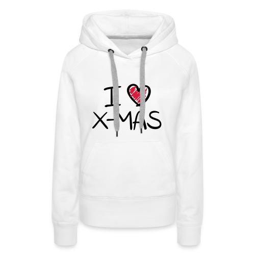 I love christmas - Vrouwen Premium hoodie