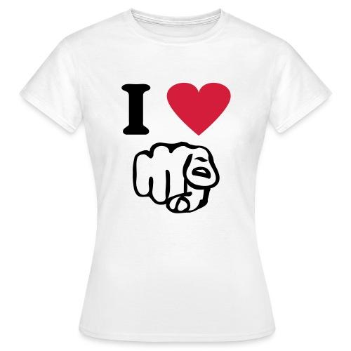 I love  - Vrouwen T-shirt