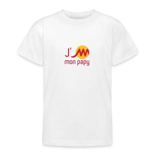 T Shirt enfant blanc J'M mon papy - T-shirt Ado