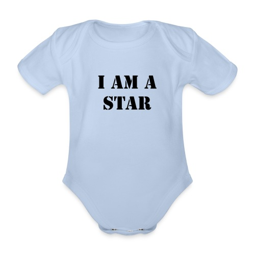 Organic Short-sleeved Baby Bodysuit - Collection STAR by Alea Karin.