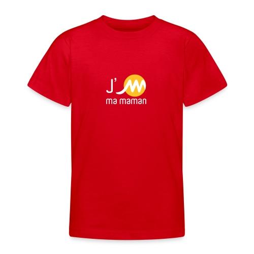 T Shirt enfant rouge J'M ma maman - T-shirt Ado