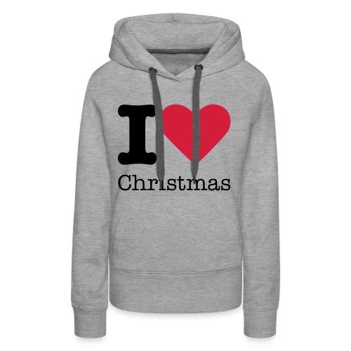 i ♥ christmas - Vrouwen Premium hoodie