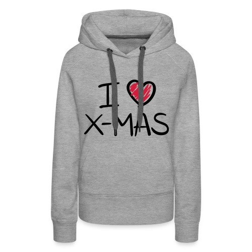 i ♥ xmas - Vrouwen Premium hoodie