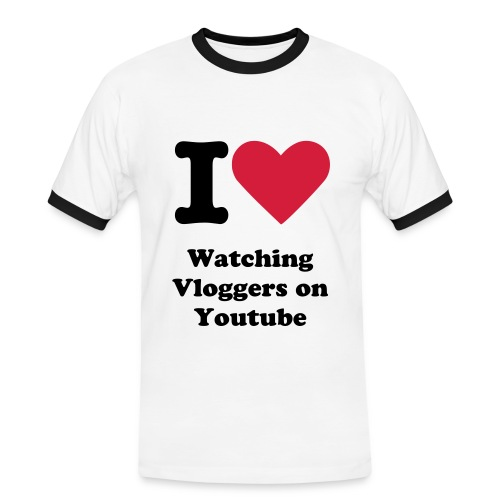 I Heart Watching Vloggers Shirt - Men's Ringer Shirt