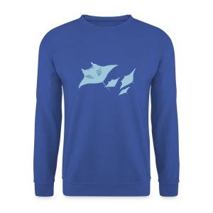 tier t-shirt manta ray rochen taucher tauchen scuba diving dive - Männer Pullover