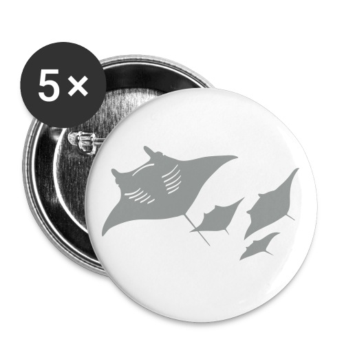 tier t-shirt manta ray rochen taucher tauchen scuba diving dive - Buttons groß 56 mm
