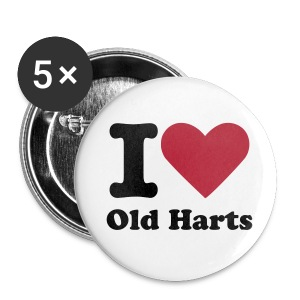 I Heart Old Harts Women's Pack of 5 Badges - Buttons small 25 mm