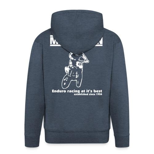 Kapuzenjacke mit modern Rückendruck - Männer Premium Kapuzenjacke