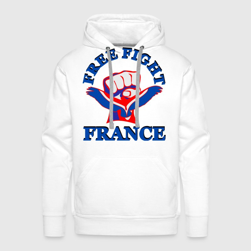 Sweat shirt capuche free fight france mma spreadshirt for Sweat free t shirts