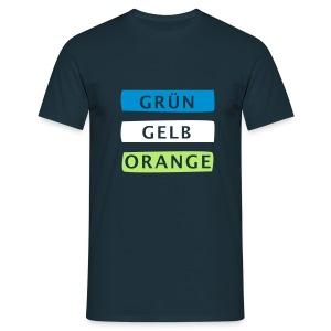 3 Farben – schau hin :) - Männer T-Shirt