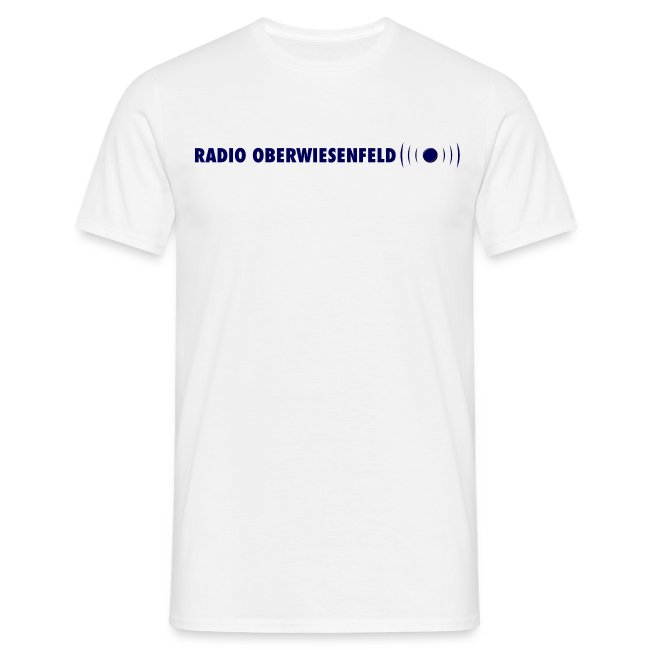 Klassisches Männer T-Shirt mit Schriftzug