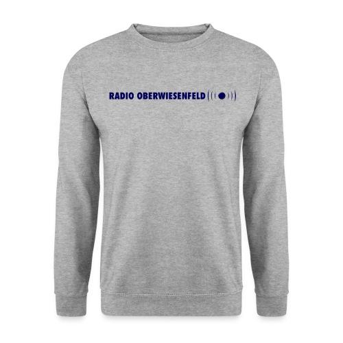 Männer Pullover grau mit Schriftzug - Männer Pullover