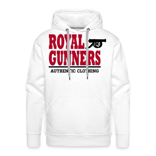 Royal Gunners authentic blanc - Sweat-shirt à capuche Premium pour hommes
