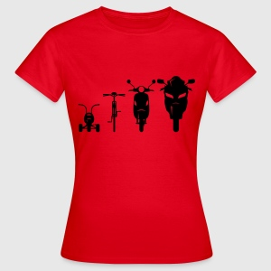 Motorcycle Front Evolution  T-Shirts - Women's T-Shirt