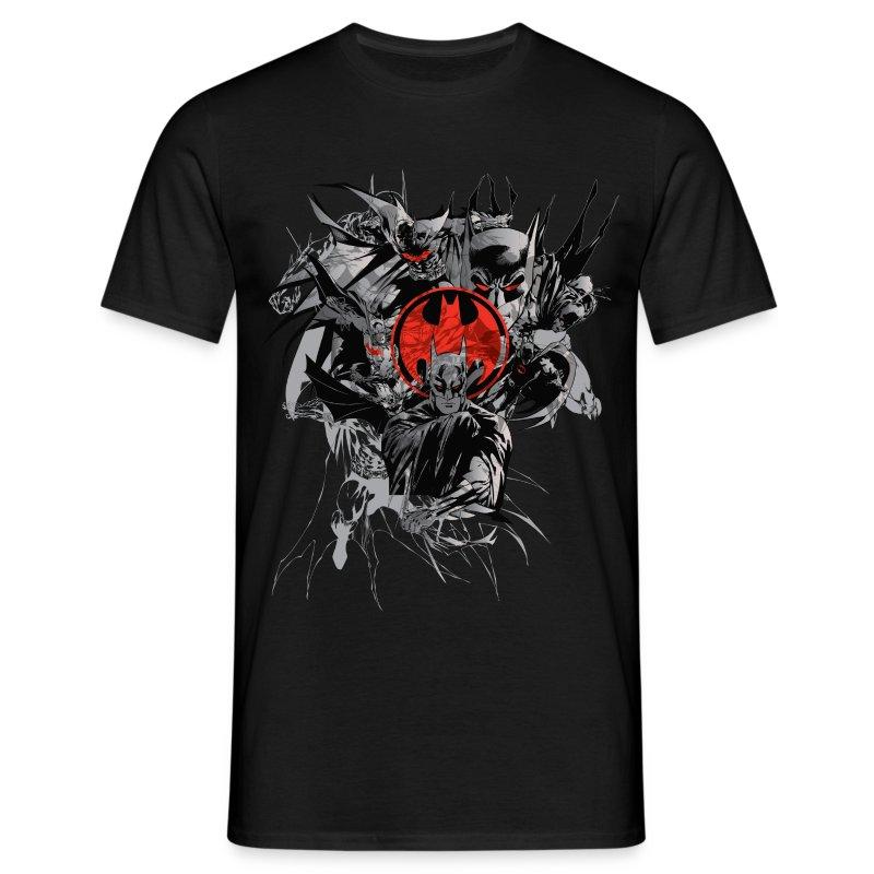 batman dark logo rot t shirt f r m nner t shirt spreadshirt. Black Bedroom Furniture Sets. Home Design Ideas