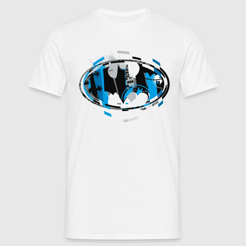 batman logo blau t shirt f r m nner m nner t shirt. Black Bedroom Furniture Sets. Home Design Ideas