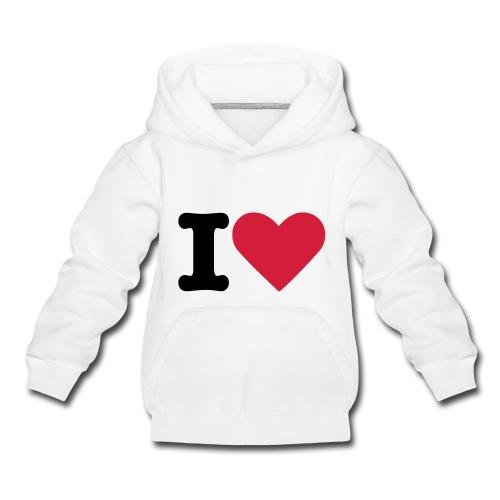 I love Hoodie Kinder - Kinder Premium Hoodie