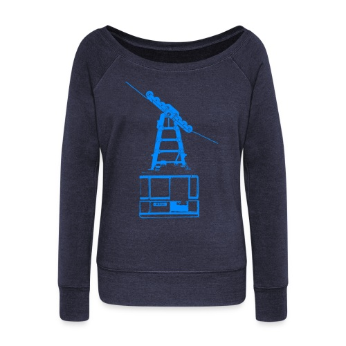 cable car - Women's Boat Neck Long Sleeve Top