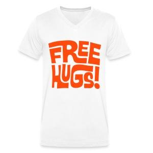 Free Hugs - Men's Organic V-Neck T-Shirt by Stanley & Stella