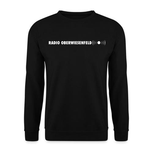 Männer Pullover schwarz mit hellblauen Schriftzug - Männer Pullover